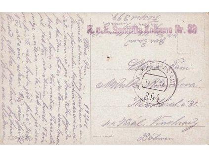 No.394, pohlednice zasl. v roce 1918 do Prahy, hledané