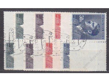 10-50K Hitler, L+P kupony bez okraje, Nr.96-9, razítkované, ilustrační foto