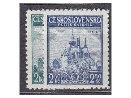 1937, 2-2.50Kč Malá dohoda, Nr.320-1, **
