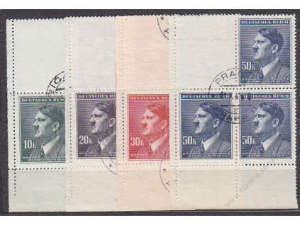 10-50K Hitler, VK1, Nr.96-9, razítkované