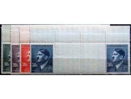 1942, 10-50K Hitler, Nr.96-9,VK5, horní ok