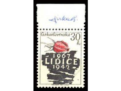 Jirka, 1967, podpis na známce, **