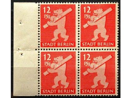 Berlin a Brandenburg, 1945, 12Pf Medvěd, **