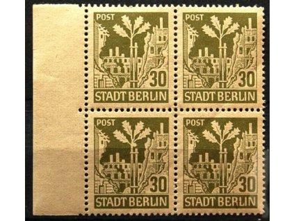 Berlin a Brandenburg, 1945, 30Pf Ruiny, **