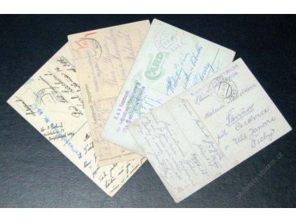 No.400/III, 438, 451, 507, 4 ks pohlednic