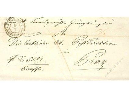 J:Bunzlau, skládaný dopis z roku 1857