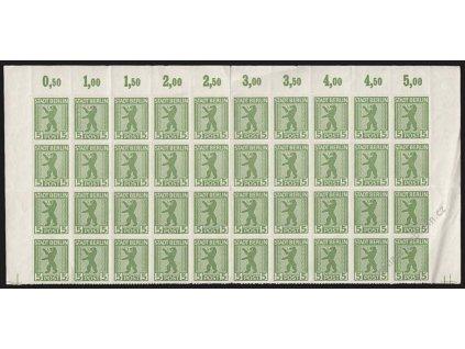 Berlin a Brandenburg, 1945, 5Pf Znak, MiNr.1B, **