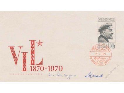 Jirka, podpis na celinové obálce COB25 z roku 1970