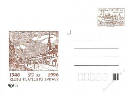COB 1, 50 let KF Svitavy, hnědý přítisk, neprošlé 1996