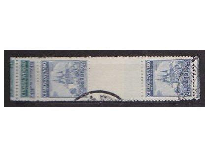 1937, 2-2.50Kč série Malá dohoda, meziarší, Nr.320-1Ms, razítkované