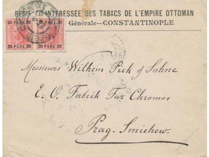 Levanta, 1905, DR Constantinople, firemní dopis