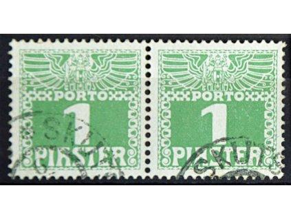 Levanta, 1908, 1Pia doplatní, 2páska, razítkované