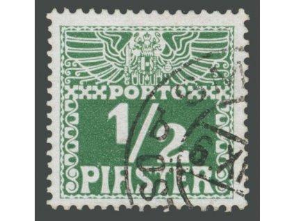 Levanta, 1908, 1/2Pia zelená, MiNr.7xb, razítkované