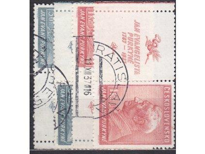 1937, 50h-1Kč Purkyně, kupony, L+P, Nr.322-3, razítkované, ilustrační foto