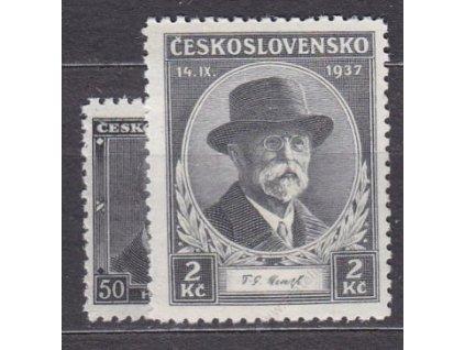 1937, 50h-2Kč Smuteční, Nr.324-5, **