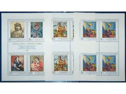 1973, 1-3.60Kčs PL - Umění, 3 ks PL, Nr.PL2054-9 **