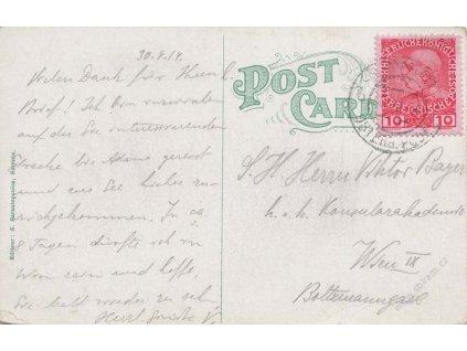 Levanta, 1914, DR Smyrna, pohlednice Smyrny vyfr. zn. 10C