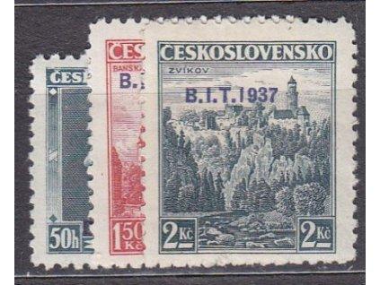 1937, 50k-2Kč BIT, Nr.326-8, **