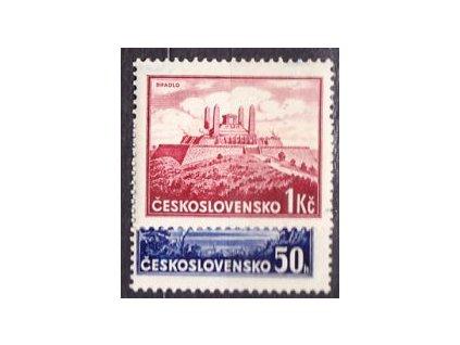 1937, 50h-1Kčs Bratislava, známky z aršíku, **