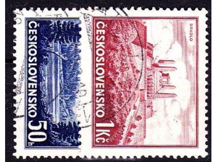 1937, 50h-1Kčs známky z aršíku Bratislava, Nr.329-30, razítkované, ilustrační foto