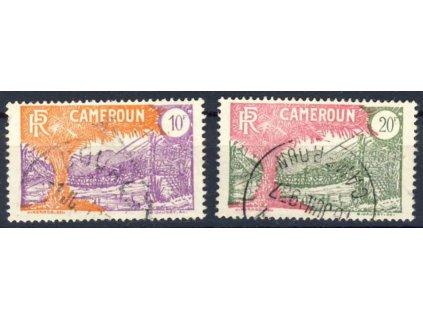 Kamerun, 1925, 10 a 20Fr Výjevy, razítkované