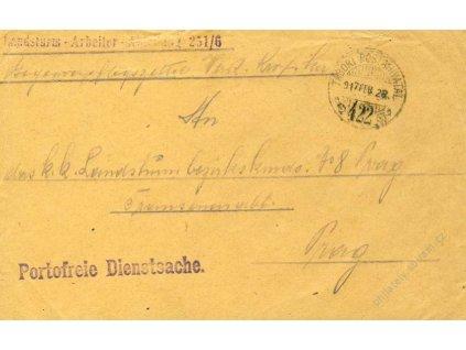 No.422, obálka, zasláno v roce 1917 do Prahy