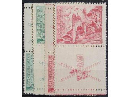 1938, 50h a 1Kč Zimní hry, kupony L+P, Nr.331-332, **