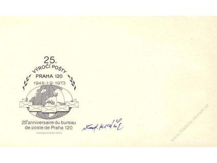 Kovařík, podpis na obálce z roku 1973