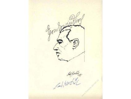 Kovařík, podpis na tisku Egon Ervin Kisch, A5