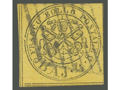Kirchenstaat, 1852, 4Baj Znak, MiNr.5, razítkované