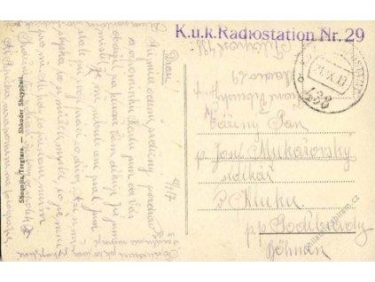 No.438b + K.u.K.Radiostation Nr.29, pohlednice