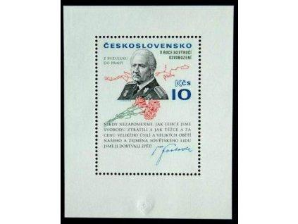 1975, 10Kčs, zoubk. aršík Svoboda, Nr.2175, **