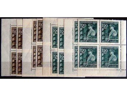 1944, 60h-1.20K 55.narozeniny A.Hitlera, rohová miniatura, Nr.116-7, **