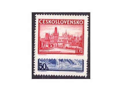 1938, 50h-1Kč PRAGA, série z aršíku, Nr.342-3, **