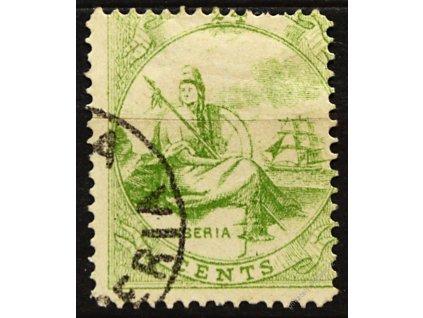 Liberia, 1866, 24C Liberia, MiNr.9, razítkované