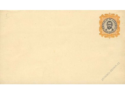 Liberia, 1900, celinová obálka 10C, neprošlé