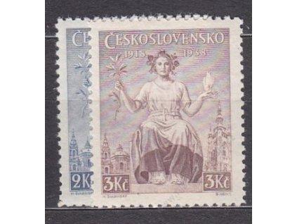 1938, 2-3Kč Republika, Nr.348-9, **