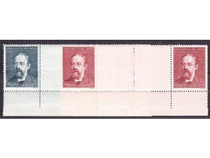 A- 1944, 60h-1.20K Smetana, meziarší, dolní okraj, Nr.118-19, **
