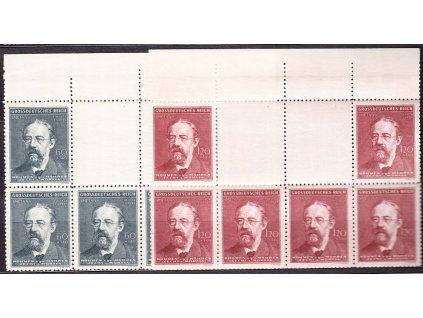 1944, 60h-1.20K Smetana,  podkovy, horní okraj, Nr.118-19, **