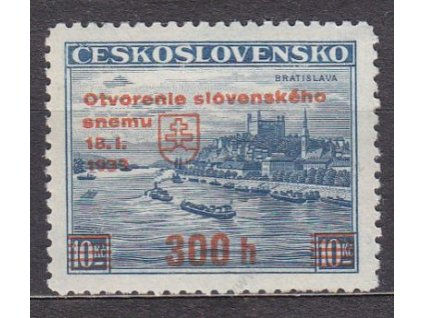 1939, 300h/10Kč Sněm, Nr.350, **