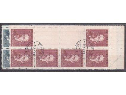 1944, 60-120h Smetana, levé horní roh. podkovy, Nr.118-19, razítkované, ilustrační foto