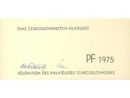 1975, PF 1975 SČF, podlouhlý formát, 2list