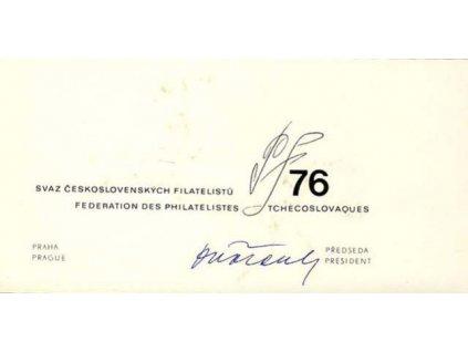 1976, PF 1976 SČF, podlouhlý formát, 2list, stopy stáří