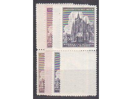 1944, 1.50-2.50K Chrám sv.Víta, horní + dolní kupony, Nr.120-1, **