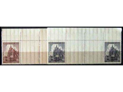 1944, 1.50-2.50K Chrám sv.Víta Nr.120-21, VK 5, horní okraj, **