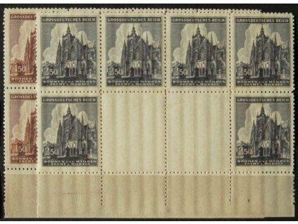 1944, 1.50-2.50K série Chrám sv.Víta, Nr.120-21, VK 6, **