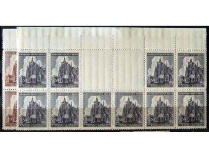 1944, 1.50-2.50K Chrám sv.Víta Nr.120-21, VK 7, **