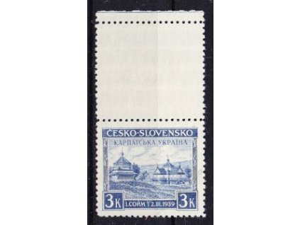 1939, 3Kč Chust, horní kupon, Nr.351, **