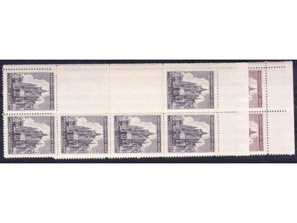 1944, 1.50-2.50K sv. Vít, levé svislé podkovy, horní okraj, Nr.120-1, **