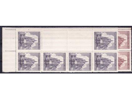 1944, 1.50-2.50K sv. Vít, levé svislé podkovy, dolní okraj, Nr.120-1, **